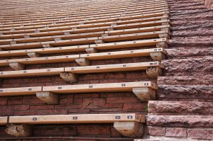 Seats at Red Rocks Amphitheater